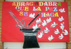 dia de la paz - Buscar con Google Peace Crafts, English Resources, School Decorations, Library Displays, Saint Valentine, Fourth Grade, Religion, Projects To Try, Arts And Crafts