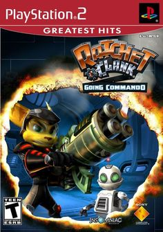 (*** http://BubbleCraze.org - If Tetris and Bubble Shooter had a kid, this would be it! ***)  Ratchet & Clank: Going Commando [Greatest Hits] (Sony PlayStation 2, 2004)