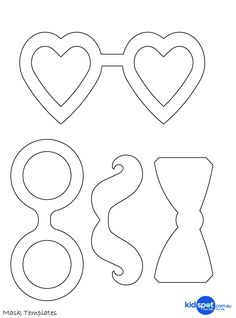 craft template printable | Easy Costume | Masquerade Masks | Dress Ups | Mask Printables