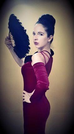 Beautiful customer in a bueatiful gown from Divas Vintage, Ljubljana