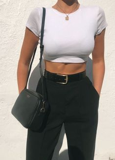Cute Casual Outfits, Stylish Outfits, Summer Outfits, Summer Clothes, Classy Outfits For Teens, Mode Outfits, Fashion Outfits, Womens Fashion, Fashion Trends