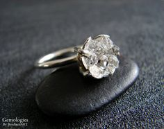 Hey, I found this really awesome Etsy listing at https://www.etsy.com/listing/234258559/raw-herkimer-diamond-ring-organic