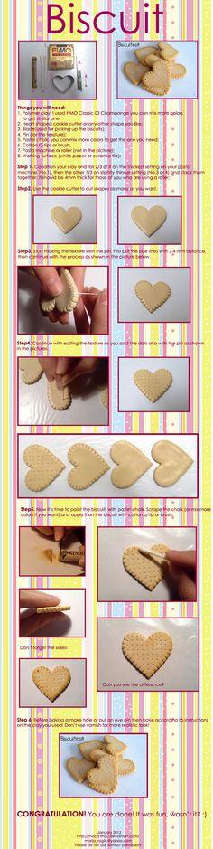 Polymer Clay Biscuit Tutorial by ~Maca-mau on deviantART