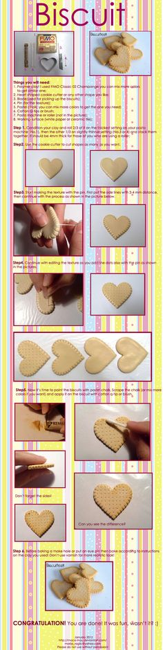 Polymer Clay Biscuit Tutorial by ~Maca-mau on deviantART