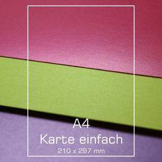A4 Karte - Silky - verschiedene Farben