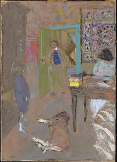 interior at saint-jacut by edouard vuillard @ the met