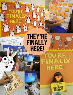 They're Finally Here! First week of school activities with You're Finally Here! by Melanie Watt