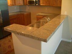 "12"" Ceramic Tile Kitchen Countertop"