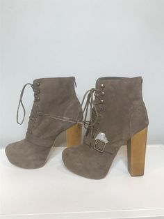 3fa259f81aa NEW Steve Madden womens size 8 brown suede platform booties  fashion   clothing  shoes