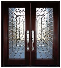 Double Front Entry Doors, Entry Doors With Glass, Wood Entry Doors, The Doors, Wooden Doors, Windows And Doors, Glass Doors, Tall Windows, Panel Doors