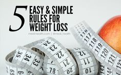 5 Easy and Simple Rules For Weight Loss  #WeightLoss #Diet