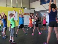 CrossFit Kids This is my favorite workout for kids. We modify it because we don't have all the equipment at our house. It is scaled to ages. I am preschool/elementary level. :/