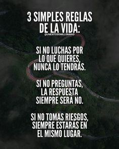 Consejos para el dia a dia. Inspirational Phrases, Motivational Phrases, Frases Dela, Coaching, Spanish Quotes, French Quotes, Life Motivation, Sentences, Me Quotes