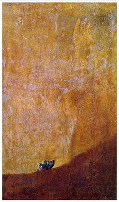 """""""Il Cane"""" di Goya (Museo del Prado, Madrid, 1820-23"""