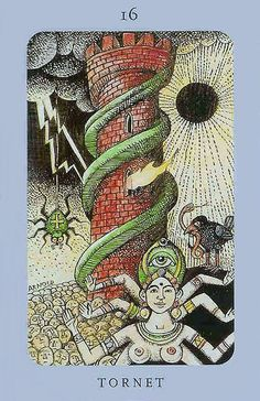 The Tower - Jolanda Tarot (Swedish Witch Tarot)