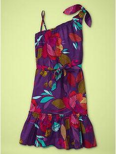 One-shoulder floral dress | Gap