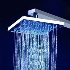 Rainfall & Waterfall Showerhead Buy Trialo Solid Brass Recessed Color Changing Water Powered Led Shower With Adjustable Body Jets And Mixer Online Ceiling Shower Head, Led Shower Head, Rain Shower System, Shower Systems, Bathroom Shower Heads, Small Bathroom, Bathroom Ideas, Brushed Nickel Shower Head, Italian Bathroom