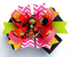 Witch Boutique Handmade Halloween Hair Bow by JustinesBoutiqueBows, $7.50