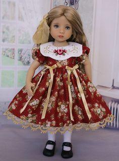 Christmas Wishes by Doll Heirloom Designs Pretty Dolls, Cute Dolls, Beautiful Dolls, Baby Dress Patterns, Baby Clothes Patterns, Child Doll, Girl Dolls, Doll Fancy Dress, Bride Dolls