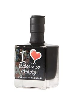 I Love Balsamico #Condiment  The essence of a younger Balsamic Vinegar into a square a bottle. 