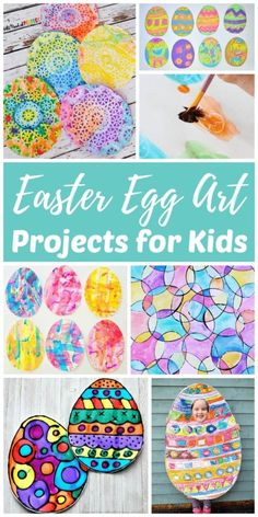 We've rounded up our favorite Easter egg creations for toddlers, preschoolers, kids, teens, & adults. Try these fun Easter art projects in the classroom or at home. Family-friendly activities like this are perfect for spring break! Spring Art Projects, Art Projects For Adults, Easy Art Projects, Spring Crafts, Easter Art, Easter Crafts, Easter Eggs, Egg Crafts, Art Journal Pages