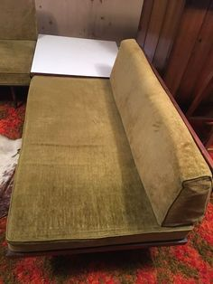 Pair of Mid-Century Platform Sofas (Longer Sofa is H) and Mid-Century Side Table Hickory North Carolina, Sectional Sofa, Sofas, Long Sofa, White Plains, Kitchen Tops, Round Rugs, Mid Century Style, Vintage Movies