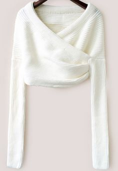 Shop White Long Sleeve Crop Knit Sweater online. Sheinside offers White Long Sleeve Crop Knit Sweater & more to fit your fashionable needs. Free Shipping Worldwide!