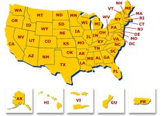 State Workers' Compensation Officials  Map of United States