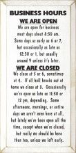 Business hours :)