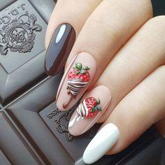 New nail art trends bring you unlimited nail design inspiration - Page 108 of 117 - Inspiration Diary Halloween Acrylic Nails, Fall Acrylic Nails, Stylish Nails, Trendy Nails, Funky Nails, Cute Nails, Nail Art Fruit, Watermelon Nail Designs, Almond Nail Art