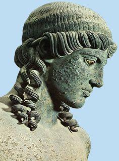 Bronze statue of Apollo - from the House of Apollo in Pompeii, Roman imperial period