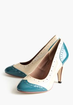 March Heels In Teal By Chelsea Crew - similar one's on Modcloth.com