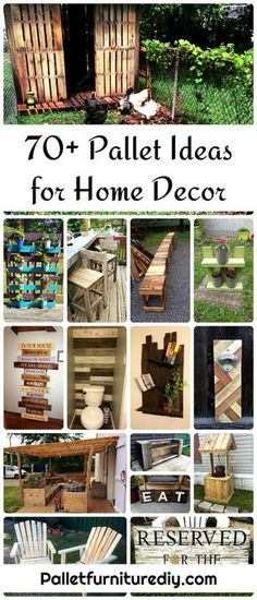 awesome 70+ Pallet Ideas for Home Decor | Pallet Furniture DIY... by http://www.best-100-home-decorpics.xyz/diy-home-decor/70-pallet-ideas-for-home-decor-pallet-furniture-diy/
