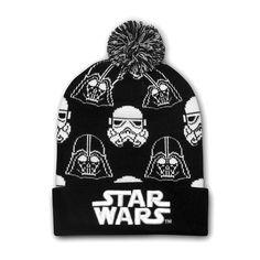 8348b3578a1ac Star Wars Black   White Darth Vader Stormtrooper Beanie - Slouchy cuff  beanie with embroidered detail - Darth Vader   Stormtrooper print beanie -  polyester ...