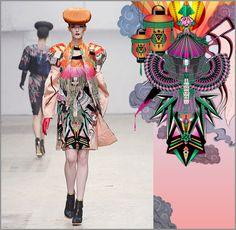 Amrei Hofstätter   Japan Inspired Digital Design print pattern