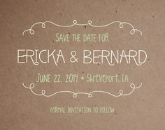 Rustic Save the Date Postcard by madebyLacie on Etsy, $55.00
