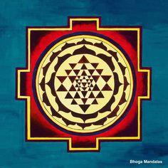 El Sri Yantra, el más conocido y poderoso de todos los yantras. concede protección y éxito en las actividades emprendidas