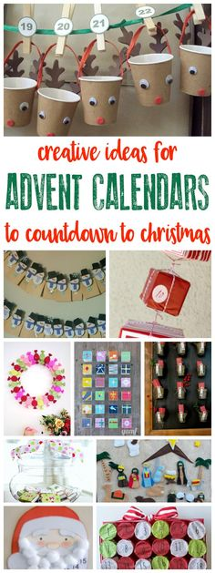 Over 30 creative ideas for making your own advent calendar to countdown to Christmas as a family. From easy DIY to handmade and sewn projects. #advent #christmascrafts #rainydaymum #crafts #diy #christmas #adventcalendars via @rainydaymum