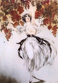 Louis Icart- Grape Picking 1925