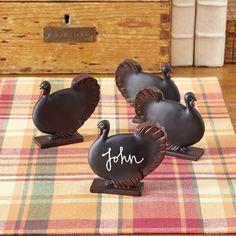 Turkey Mini Chalkboards (Set of 4)