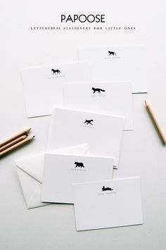 Papoose Letterpress Stationery for Kids