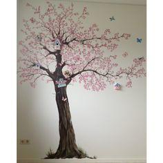 Zeldzaam mooie #muurschildering #baby en #kinderkamer van Elisabelkunst!