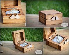 pudełko na obrączki pudełeczko pierścionek vintage - art-kredka - Poduszeczki na obrączki