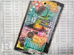 Distress Crayon Card TUTORIAL with Tim Holtz