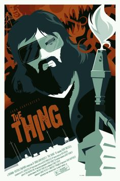 Strong Stuff , aka Tom Whalen, has an incredible portfolio of poster designs and illustrations on his DeviantArt . From classic films to . Cult Movies, Scary Movies, Horror Movies, Good Movies, Fiction Movies, Science Fiction, The Thing Movie Poster, Best Movie Posters, Retro Posters