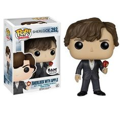 Sherlock TV Show Sherlock with Apple Pop! Television Funko Vinyl Figure New in Box NIP 292 New in Package