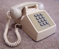 vintage push button telephone - Google Search