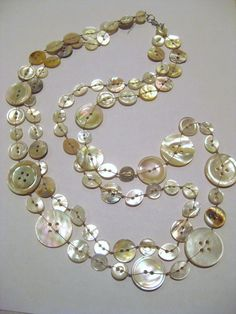 Betty Jane Designs: Search results for Shell button necklace Jewelry Crafts, Jewelry Art, Beaded Jewelry, Vintage Jewelry, Jewelry Accessories, Jewelry Necklaces, Handmade Jewelry, Jewelry Design, Metal Jewelry