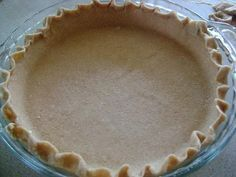Whole Wheat pie crust (little to no fat, most crusts use tons of butter or shortening)... 1 cup whole wheat flour, 2 tbspns fake butter low fat whatever, 5 tbspns water, salt.