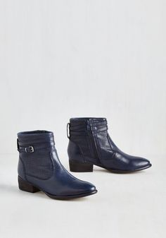 Sanctuary Bootie in Navy by Seychelles - Blue, Solid, Best, Ankle, Variation